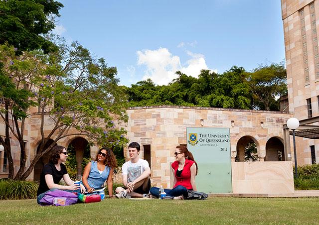 国際的評価の高い大学も多く、進学を検討している人にもお薦め(提供:University of Queensland)