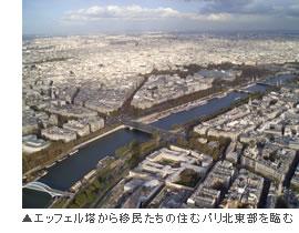 エッフェル塔から見たパリの風景