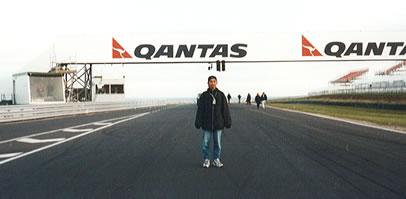 オーストラリアグランプリのコースにて