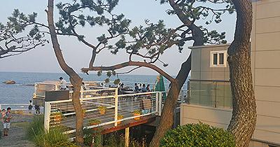 ▲海辺にあるカフェレストラン。景色も味も最高です!!!