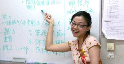 ▲ゆる~い発音が台湾の特徴。学校ではピンインが主流です。