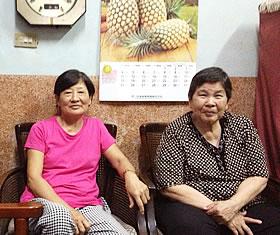 ▲台南のおかあさん達。バリバリの台湾語です。