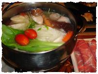 ▲こちらは日本風一人鍋。でも具は微妙に台湾風