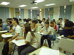 ▲最初に試験でクラス分けをします