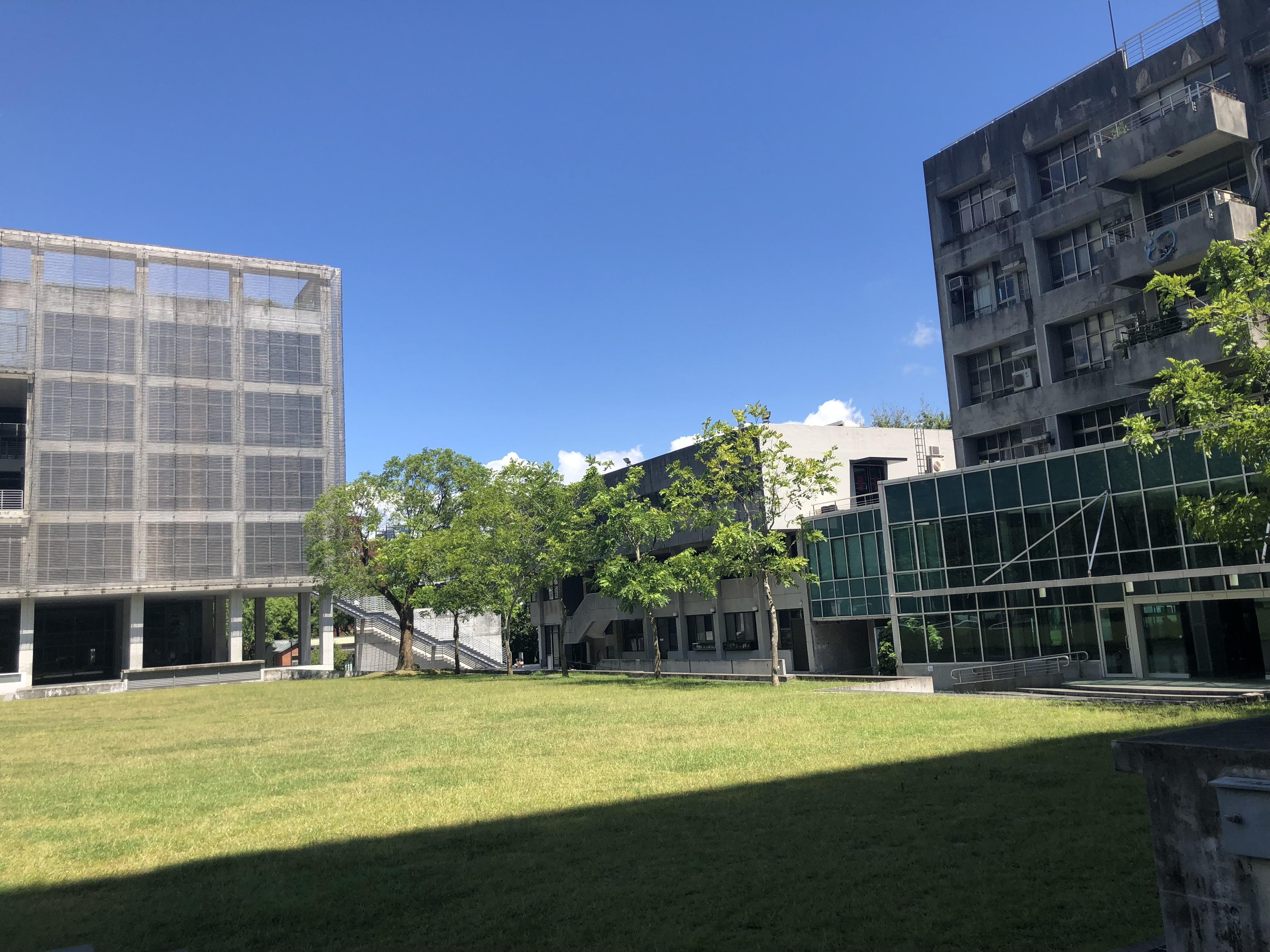 台北市中心部でこんなに広々した大学はここだけかもしれません。