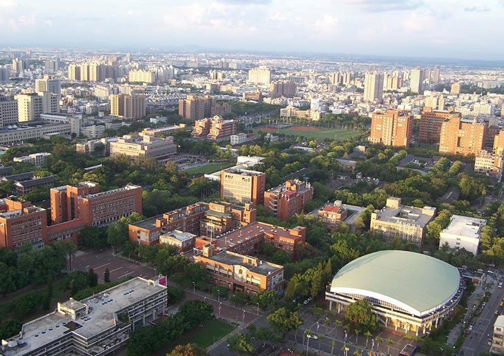 一目でわかる広大すぎるキャンパス!台湾でもトップを争う国立大学。